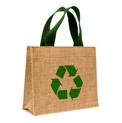 Shopping bag made out of sack