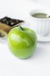 green apple and baverage