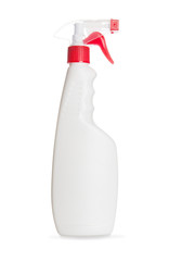 Cleaning bottle on a white background