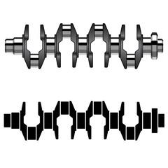 vector steel motor crankshaft