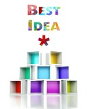 Best idea concept colorful 3d design