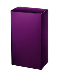 Violet cosmetic packaging box