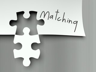 Complement with matching puzzle pieces