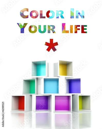 Color in your life with colorful 3d design illustration