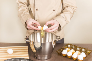 cook chicken eggs splits