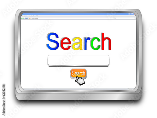 Internet Search engine browser window