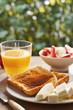 Bread toasts for breakfast