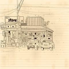 store street scene