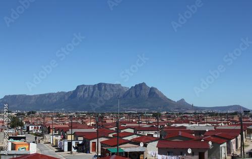 Fotobehang Algerije Township in Kapstadt