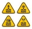 online radio triangle signs