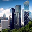 Hong Kong City center skyscrapers