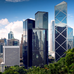 Hong Kong City center skyscrapers