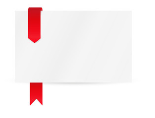ribbon or bookmark with blank paper