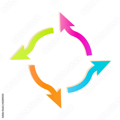 gradient circle arrows