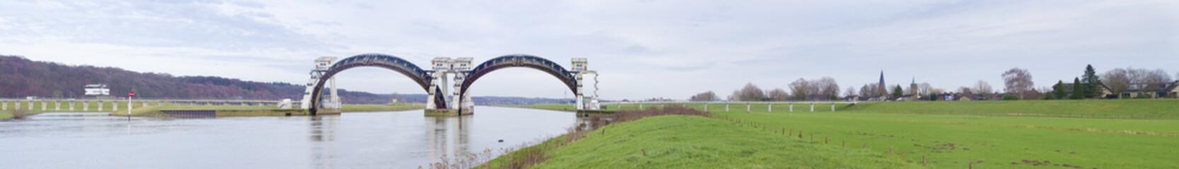 Driel weir in the Netherlands