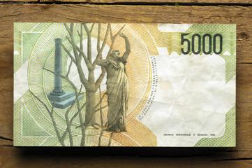 Cinquemila lire - Lira italiana 義大利里拉 ليرة إيطالية