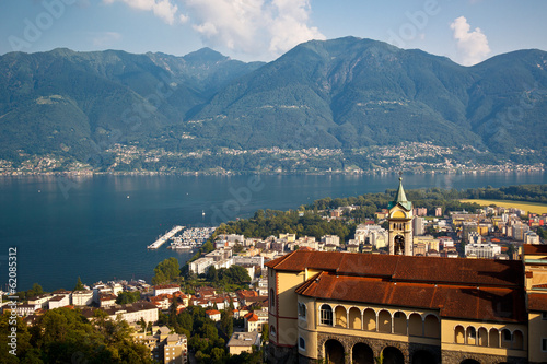 famous Church of Madonna del Sasso in Locarno