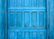 Old blue wooden door detail