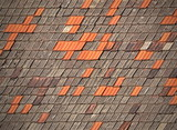 old tiled roofs chapped poster