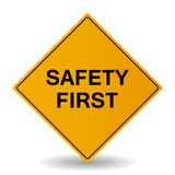 Safety First Vector Sign