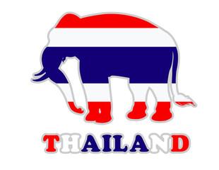 Thailand Flag Elephent