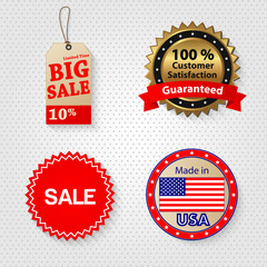 Retail sale tag set