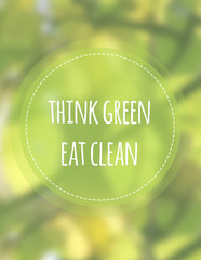 Think Green Eat Green
