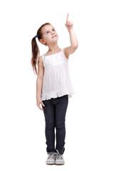Full length portrait of a happy little girl