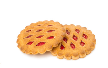 biscuits with jam isolated