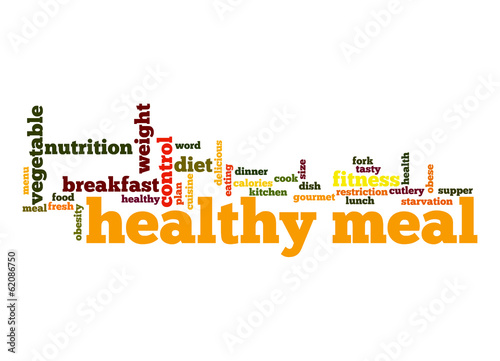 Healthy meal word cloud