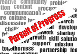 Pursuit of progress word cloud