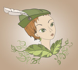 girl with Robin Hood's hat, pixie