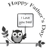 Monochrome I love dad message