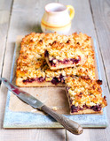 Mixed berry and coconut cake