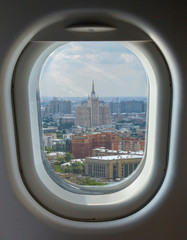porthole and aerial view of the Moscow