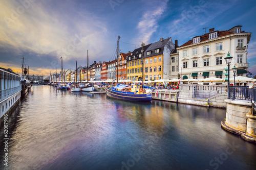 Póster Copenhague, Dinamarca en Canal Nyhavn