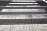 old rotten pedestrian crossing stripes