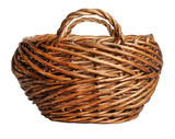 yellow basket isolated on a white background