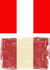 Peruvian grunge flag. Vector