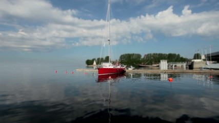 Red Sailboat at the pier