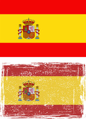 Spanish grunge flag. Vector