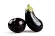 two eggplant isolated
