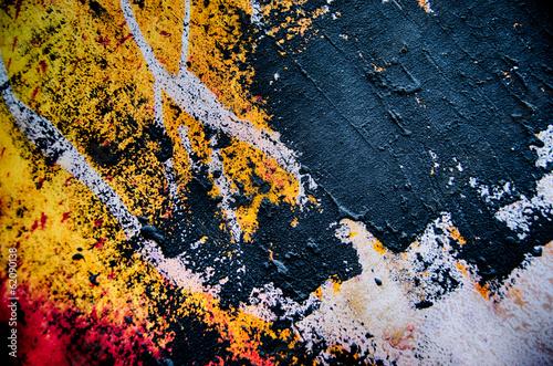 Abstrakt Farben Spachtelmasse Farbauftrag spachtel © artefacti