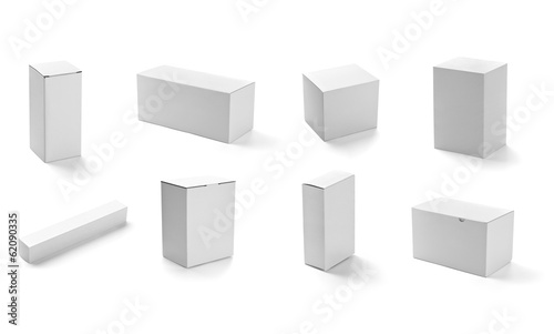white box container template blank package - 62090335