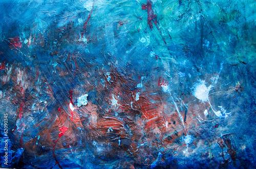 canvas print picture Abstrakte Kunst Gemälde Ölgemälde Kunstdruck blau