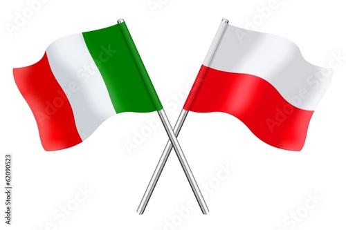 Bandiere: Italia ed Polonia