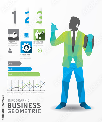 infographic business geometric concept design colour Illustratio