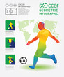 Soccer Infographic Geometric Concept Design Colour Illustration