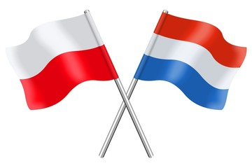 Flags : Poland and Luxembourg