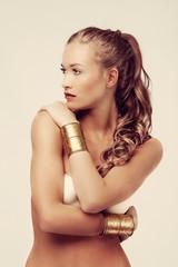 tanned beauty woman